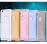 polvo brillante líneas delgadas de diamante TPU caso suave para el iphone 6 4.7 pulgadas (colores surtidos)