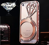 For iPhone 5 Case Rhinestone Case Back Cover Case Solid Color Hard Aluminium iPhone SE/5s/5