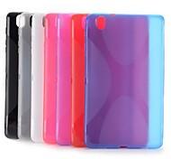 x forma del diseño del caso del tpu gel estilo simple para samsung galaxy tab 8.4 pro t320 (colores surtidos)