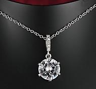 сказочные латунь золото с гальваническим покрытием ожерелье AAAA циркона женщин (более цвета)