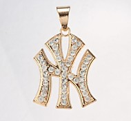 jack pingente unisex ouro diamante (pingente apenas)