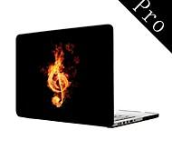 """Musik in der Feuer-Design-Ganzkörper-Kunststoffschutzhülle für MacBook Pro 13 """"/ 15"""" (non-Retina)"""