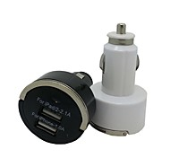 2 portas USB Car Charger Mini carregador de carro para iphone 5 / 5s / ipod ipad (cores sortidas)