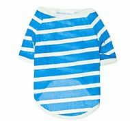 Stripe Pattern Pure Cotton T-Shirt for Dogs (Assorted Color,XS-L)