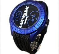 orologio quadrante grande grande silicone numeri del quarzo della fascia di polso analogico degli uomini (colori assortiti)
