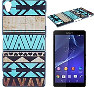 Blue Stripes Pattern PC Hard Case for Sony Z1 L39H