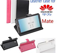 Hot Sale 100% PU Leather Flip Leather Up and Down Case for Ascend Mate(Assorted Color)
