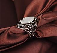 anillo de los hombres huecos plateado vendimia ópalos clásicos 18k de diamantes de imitación de oro