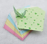 5 Color 6.5cm Heart Pattern Papercranes Origami Materials(150 Pages/Package)