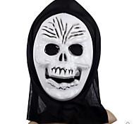Скелет сложно ПВХ Хэллоуин маска (случайный цвет)