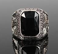 Vintage Punk Silver Alloy Men's Ring