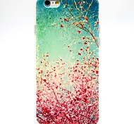 Cherry Blossoms Pattern TPU Soft Case for iPhone 6