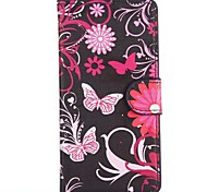 Blooming Blossoms Pattern PU Leather Full Body Cover with Stand for HTC Desire 610