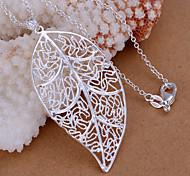 Colgantes Brillante Leaf Shape plata 1