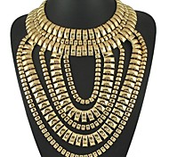 Exaggerated Multilayers Alloy Long Necklace