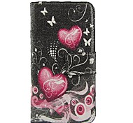 Pink Heart PU Leather Full Body Case with Stand and Card Slot for iPhone 6