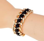 le style lureme®simple chaîne de corde épaisse bracelet en alliage