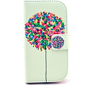 Balloon Pattern PU Leather Case with Stand for Samsung Galaxy S3 MINI I8190