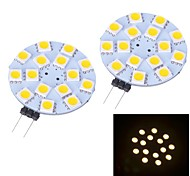 G4 W 15 SMD 5050 150~170 LM Warm wit/Koel wit 2-pins lampen DC 12 V