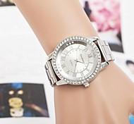 Women's  Fashion Roma Number Rhinestones Steel Belt Quartz Wrist Watch