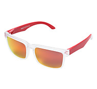 Sunglasses Men / Women / Unisex's Fashion / Polarized Rectangle Black / Red Sunglasses Full-Rim