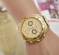 relógio de forma strass aço quartzo correia de pulso das mulheres (cores sortidas)