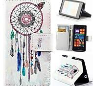 бумажник стиль перезвон ветра искусственная кожа полное покрытие тела с подставкой для Nokia Lumia 520