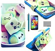 Für Muster Hülle Handyhülle für das ganze Handy Hülle Linien / Wellen Hart PU - Leder Samsung S5 Mini