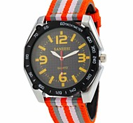 Men's Sport Design Fabric Band Quartz Wrist Watch(Assorted Colors)