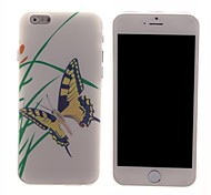 Yellow Butterfly Design PC Hard Case for iPhone 6