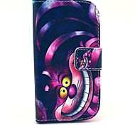 Big Mouth Cat Pattern PU Leather Case with Stand for Samsung Galaxy S3 MINI I8190