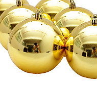 4inch Set Of 6 Christmas Ornament Colorful Ball ,PVC