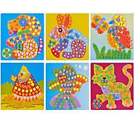 6pcs eva dot mosaico adesivi 3d mano bambini di puzzle diy animali giocattoli