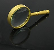 Handheld Zinc Alloy Handle 75mm 6X Magnifier