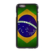 Brazilian Flag Design Aluminum Hard Case for iPhone 6 Plus