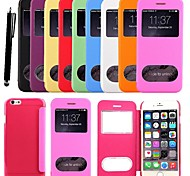 KARZEA® Smart Luxury Windows Pattern PU Leather Case with Stylus for iPhone 6 Plus(Assorted Colors)