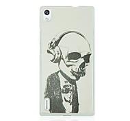 Horrible Skull Pattern Hard Case for Huawei Ascend P7