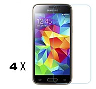 [4-Pack]Professional High Transparency LCD Crystal Clear Screen Protector with Cleaning Cloth for Samsung Galaxy S5 Mini
