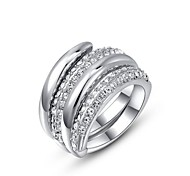 Sexy 18K Rose/White Gold Plated Multi Shining Austria Crystal Cocktail Roma Charm Ring