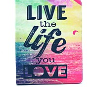 Live Life You Love Pattern PU Leather Full Body Case with Stand for iPad 2/3/4