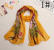 Women Chiffon Scarf,Cute / Work / Casual