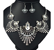 (1 Pc)European (Fashion Glass) as Picture Alloy Necklace and Earring(Hualuo Jewelry)