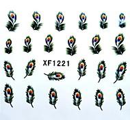 transferência de água impressão de unhas autocolantes xf1221