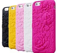 subiu carving borracha de silicone padrão estojo para iphone 6 (cores sortidas)