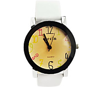 Children's Color number Dial PU Band Quartz Analog Wrist Watch (Assorted Colors)