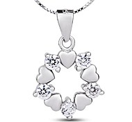I FREE®Women's S925 Sterling Silver Mosaic Zircon Pendant Necklace 1 pc