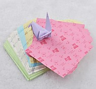 5 Color 6.5cm Bear Pattern Papercranes Origami Materials(150 Pages/Package)