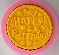 Happy Birthday Flower Fondant Cake Chocolate Silicone Mold Cake Decoration Tools,L7.1cm*W7.1cm*H1.1cm