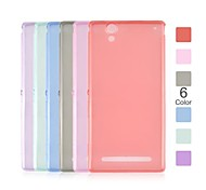 Angibabe 0.45mm Soft Transparent Clear TPU Phone Case for Xperia T2 Ultra XM50t (Assorted Colors)