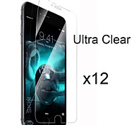 12 x Ultra Clear High Definition Screen Protector with Cleaning Cloth for iPhone 6 Plus